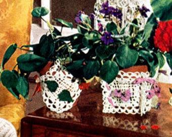 E-Pattern Crochet Flower Pot Covers Pattern