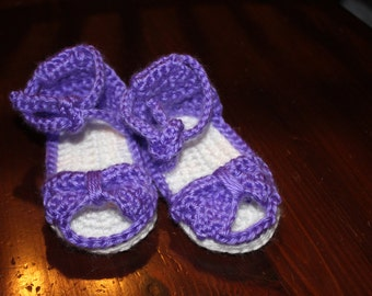 Itty Bitty Bow Sandal Booties