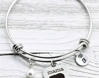 Mama Bear Bangle Bracelet for Mom for Mother's Day - Personalized Mama Bear Jewelry - New Mama Bear Accessories - Mama Bear Jewelry Gift