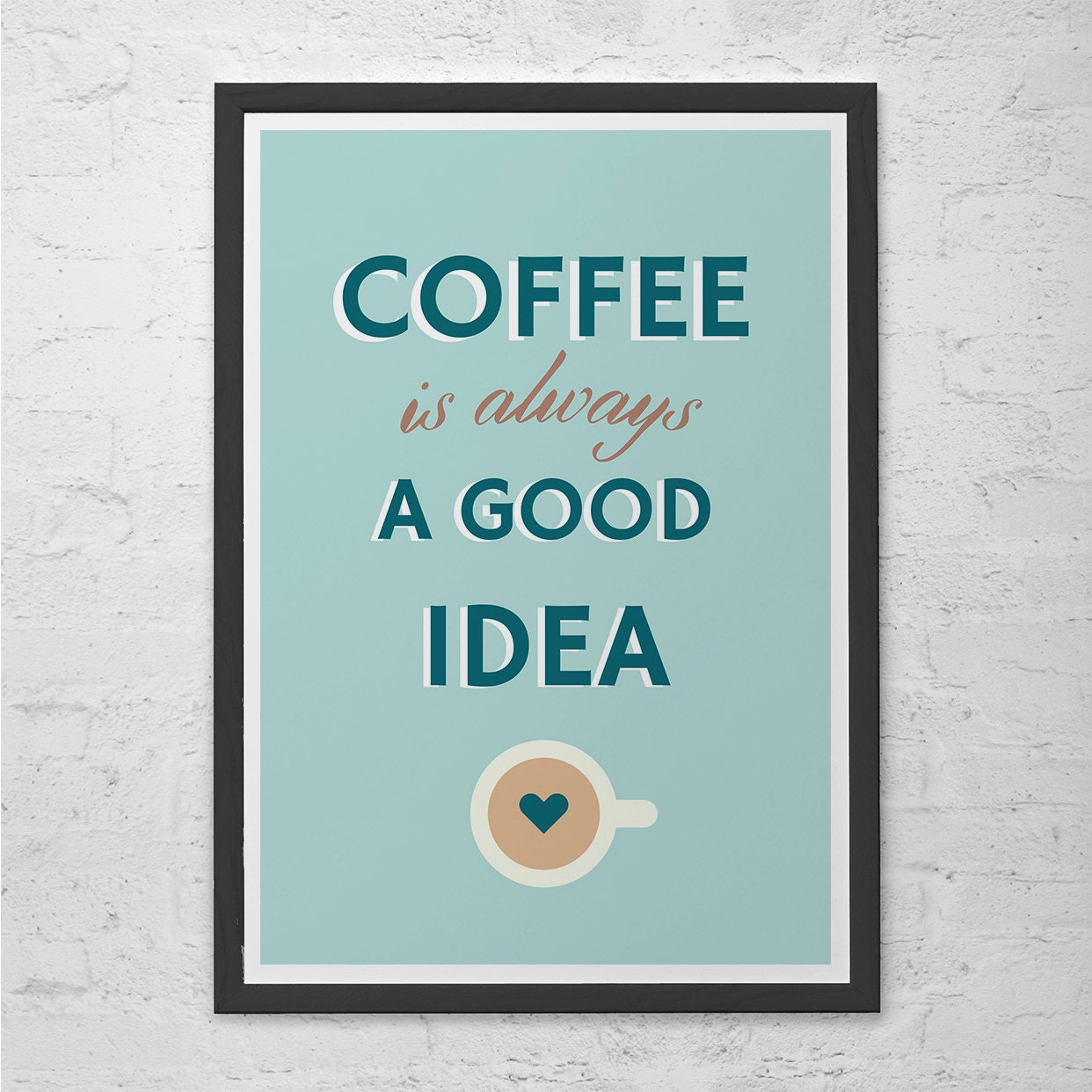MODERN COFFEE POSTER Coffee Shop Poster Kitchen Wall Art