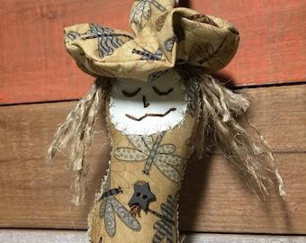 kitchen witch art doll - primitive witch doll - primitive make do - primitive kitchen witch - primitive folk art doll - fabric art dolls
