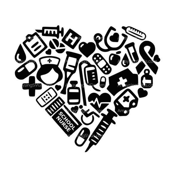 SVG School Nurse icon Heart svg School Nurse svg School Nurse