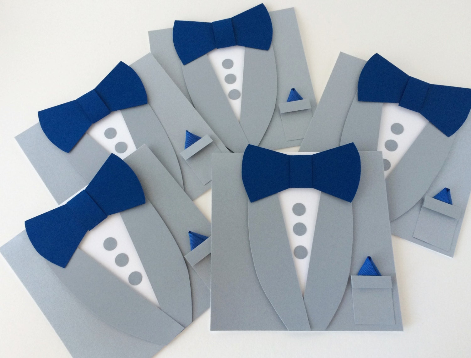 Gray Groomsman Invitations Tuxedo Bow Tie Card Will you be