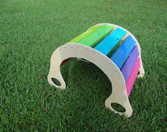 Waldorf Rocker | Sensory Toy | Kid seesaw | Regenbogenwippe | Rainbow Rocker| Wooden Kid Rocker | Message us about possible lower shipping