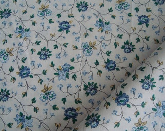 Liberty, blue fabric flower, 50 x 50 cm