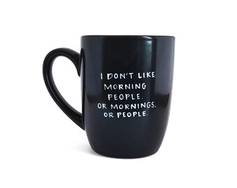Ochtend mok | Sarcastische mok | Grote mok | Upcycled mok | Grappige mok | Citeer mok | Keramische koffie thee mok | Vaderdag cadeau