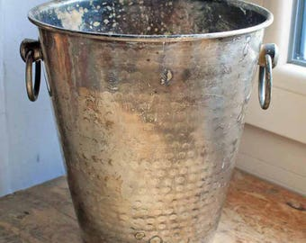Vintage French Champagne wine Bucket / Cooler , Silver plated ice bucket