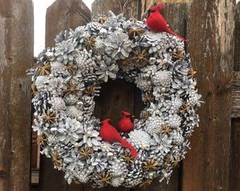 Winter, christmas wreath