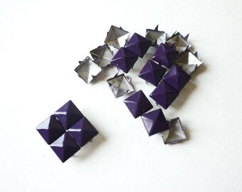 20 nails to claw purple pyramid square - 9 mm