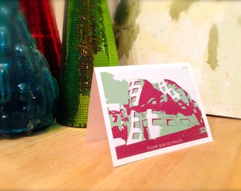Funny Thank You Card, Frank Gehry, Las Vegas, Nevada, Cleveland Clinic Center for Brain Health, Modern Architecture, print