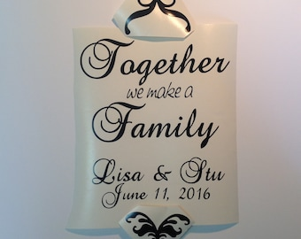 Personalized Unity Candle Decal for Candle, Glass Jar, Sign, Wedding Envelope Mailbox or Photo Frame DIY