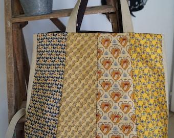 Yellow tie purse