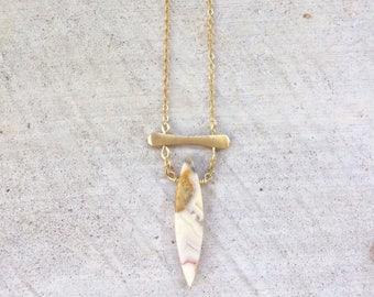 Crazy lace jasper pendant necklace