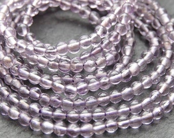 Natural AA+ Lilac Amethyst 2.5mm round - Genuine Gemstones, 2.5mm, loose Gemstones