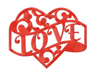 Love Machine Embroidery Digital Download