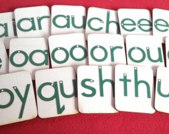 Mini Lowercase Sandpaper Letters BLENDS