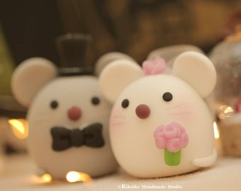 Mice and Mouse wedding cake topper
