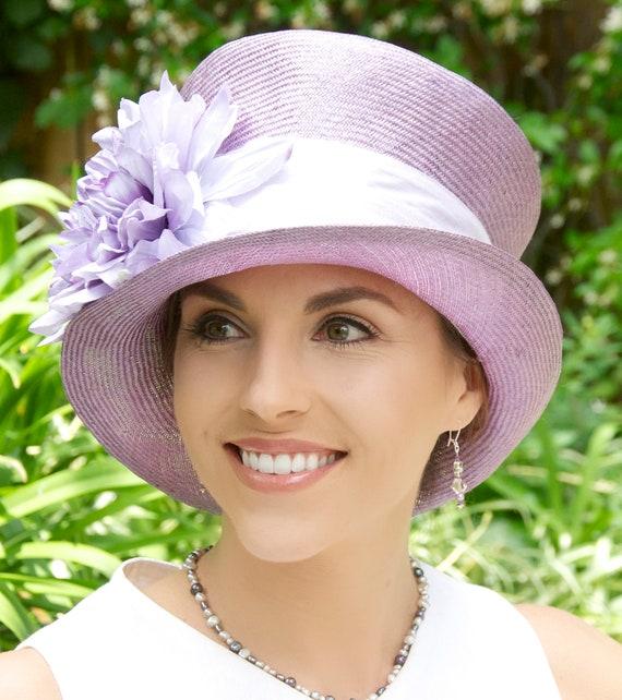 Wedding Hat, Ladies Purple Hat, Formal Hat, Ladies Summer Hat, Garden Party Hat, Tea Party Hat