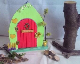 Fairy door, Tooth Fairy Door, Magical Fairy Door, Gift for Child, Gift for Adult, Birthday Gift, Fairies, Wooden Door, Opening Door,