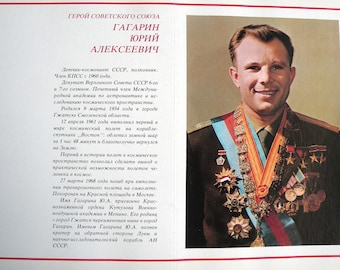 Album with photos and facsimile  of the Soviet astronauts.