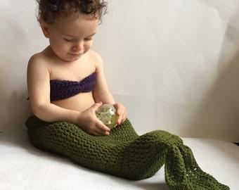 Crochet Baby Mermaid PATTERN,Baby Mermaid Outfit PATTERN,Baby Mermaid Costume,Baby Mermaid Tail,Baby Mermaid Crochet,Baby Mermaid Photo Prop