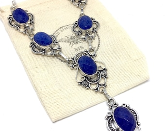 Blue Stone Handmade Necklace