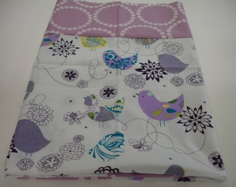 Starlings Minky Blanket You Choose Size and Minky Color MADE TO ORDER