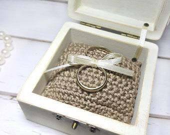 Ring Bearer Box, Wedding Proposal Ring Box, Proposal Ring Box, Wedding Ring Bearer Box, Wedding Proposal Ideas, Ivory Wedding Ring Box