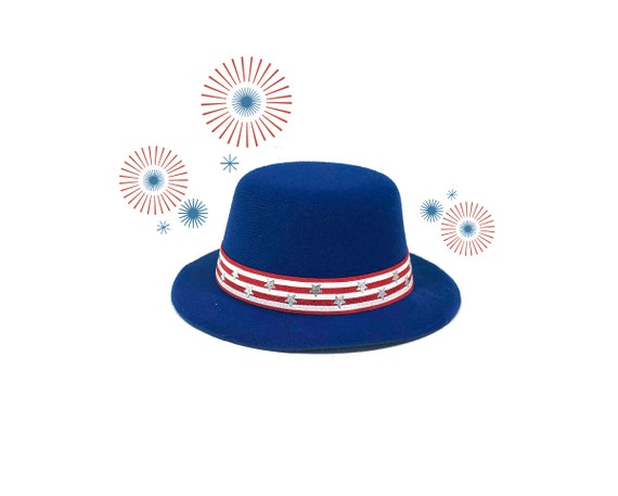 Uncle Sam Hat || Independence Day Hat and Bow Tie  ||   Fourth of July Costume for Dogs