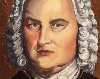 Bach Classical Composer Painting