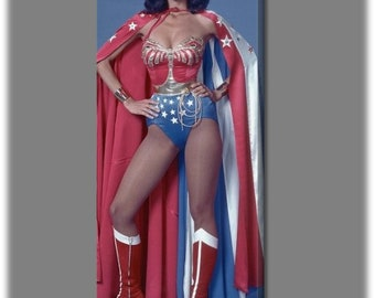 Lynda Carter 12x30 Wrapped Canvas Poster #1286