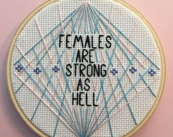 Females are strong as hell unbreakable kimmy schmidt embroidery