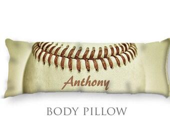 Baseball Body Pillow-Baseball Bed Pillow-Custom Body Pillow Cover-Large Pillow Cover-Sports Pillow Cover-Baseball Pillow Cover-Bed Bolster