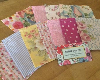 Tea Party - Shabby Chic Cloth Napkins, SET of 12, Perfect for little Girl's Parties, by CHOW with Me