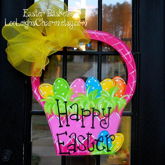 & Easter Door Hanger Unfinished wooden cutout Easter