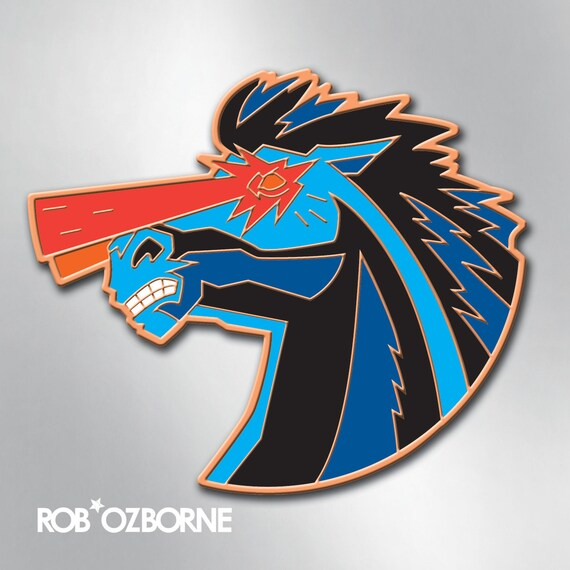HELL HORSE Enamel Pin - Denver Colorado Blue Horse Pin - Collectible Art Pin by Rob Ozborne