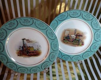 Pair of Rare Vintage Barratt's Delphatic Plates in pristine condition