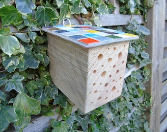 Bee and bug house made from reclaimed wood (10% of very sale to RSPB)