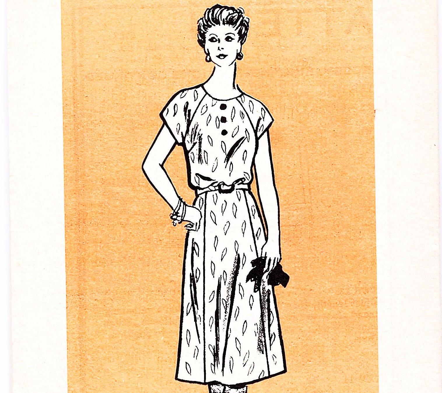 80er Jahre Vintage Versandhandel Nähen Kleid Muster kurze