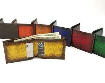 Leather Bifold Minimalist Wallet