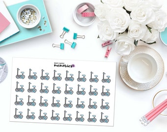 KAWAII SPIN BIKE Paper Planner Stickers!