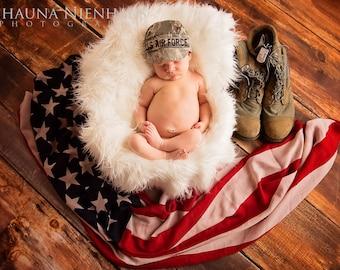 Personalized military cap, Infant Military cap, ABU cap. baby air force cap, ABU hat