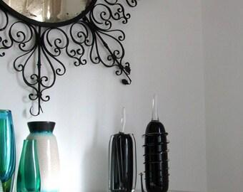 """Liselotte Henriksen Pukeberg Glasbruk Studio Sweden handmade signed black glass """"fruit""""object 1990 Mid Century Modernist Scandinavian Nordic"""
