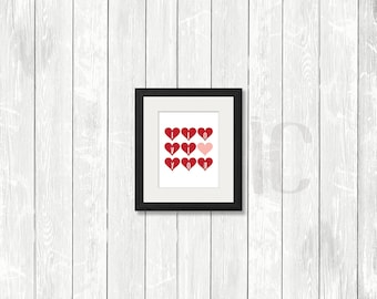 Valentines Day Decor, Valentines Print, Printable Art, Inspirational Quote, Print Wall Art, I Love You, Heart, Gallery Wall
