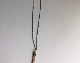 Brass Arrow and Pendant Necklace