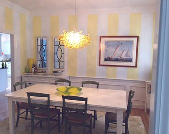 Hanging chandeliers, Hanging ceiling light, yellow ceiling light, chandelier ,a unique and elegant handmade lighting for dining room.