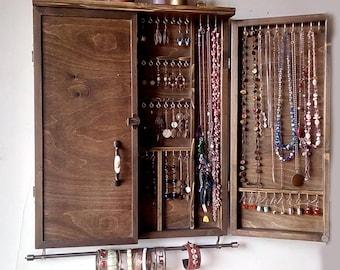 Jewelry Holder Large Earrings Display Shelf White Jewelry