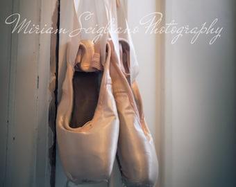 Well Worn Pointe Shoes, dance, ballet,ballet photo, girls room decor, dancer photograph, fine art photograph,ballet slippers,teen wall art