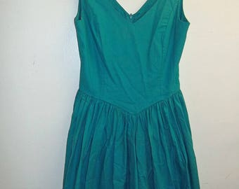 Laura Ashley Turquoise Dress...Made in England. Size 6