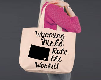 Wyoming   Bridesmaid Tote   Tote Bag   Canvas Tote Bag   Beach Tote   Canvas Tote   Shopping Tote   Shopping Bag   Korena Loves